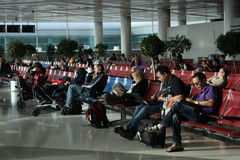 Waiting lounge in the airport royalty free stock photography