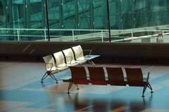 Waiting lounge with chairs Royalty Free Stock Image