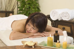 Waiting for massage at spa Stock Photography