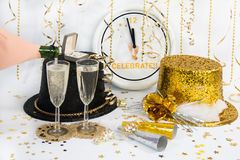 Waiting for Midnight on New Year's Eve Stock Photos