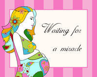Waiting for a miracle card Royalty Free Stock Image