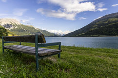 The waiting. Mountain landscape by the lake Stock Image