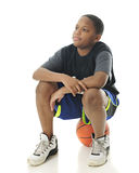 Waiting for My Basketball Buddies Royalty Free Stock Images