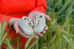 Waiting for  new born stock photography