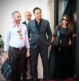Waiting for next Photocall at 70th Venice film festival. Actor Ken Watanabe waiting for his 'Unforgiven' photocall at 70th Venice International Film Festival on Royalty Free Stock Photography