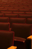 Waiting for the next show. Rows of theater seating suggest good things to come Royalty Free Stock Images