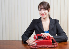 Waiting for a old fashioned call Stock Photography