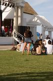 Waiting for an outdoor concert. People waiting to watch an outdoor concert Stock Photography