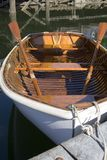 Waiting for passengers. A moored wooden Life Boat royalty free stock photos