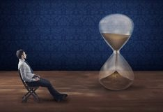 Waiting in patience. The concept of waiting patient. Royalty Free Stock Image