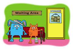 Waiting patients Royalty Free Stock Photo