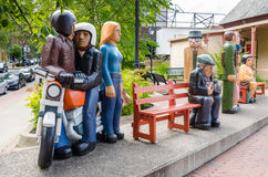 The Waiting People: Sculpture in Saint John, New Brunswick Royalty Free Stock Images