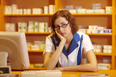 Waiting pharmacist Royalty Free Stock Photos