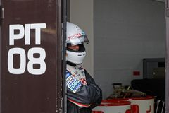 Waiting in the pits. LE CASTELLET, FRANCE, April 7, 2018 : Racing cars and teams during the training sessions for World Endurance Car Championship, before the Stock Photos