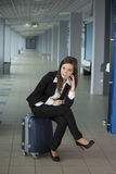 Waiting for a plane Royalty Free Stock Image