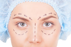 Waiting for plastic surgery. Royalty Free Stock Photos