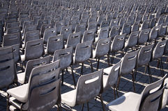 Waiting for the Pope. Rows of chairs at the vatican, used when the pope gives an address Stock Photos