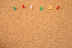 Waiting for posts. Bulletin board background with pushpins Royalty Free Stock Photo