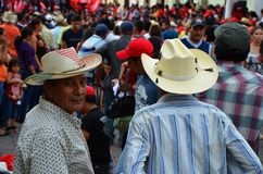 Waiting for a presidential communist candidate, Suchitoto Stock Photography