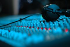 Waiting for producer. Audio Mixing Console Stock Images