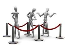 Waiting in queue Stock Image