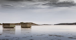 Waiting for the rain. Swedish coast of Stenungsund. The weather is shifting for the worse royalty free stock photography