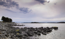 Waiting for the rain 2. Swedish coast of Stenungsund. The weather is shifting for the worse Royalty Free Stock Image