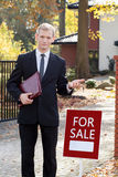 Waiting real estate agent Stock Photography