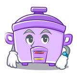 Waiting rice cooker character cartoon Royalty Free Stock Photos