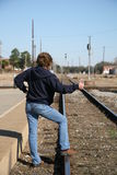 Waiting for a ride Royalty Free Stock Photography