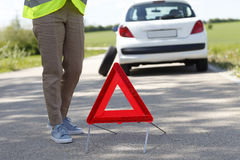 Waiting for roadside assistance service royalty free stock images