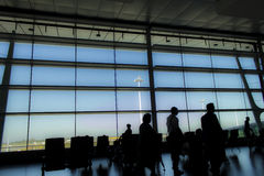 Waiting romm at the airport Royalty Free Stock Image
