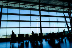 Waiting romm in the airport Royalty Free Stock Images
