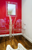 Waiting room. With luxury elements and clear plastic chair Royalty Free Stock Images