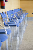 Waiting room. Image of a row of chairs in a waiting room Stock Images