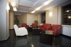 Waiting room. Detail of a waiting room from a office building Stock Photography