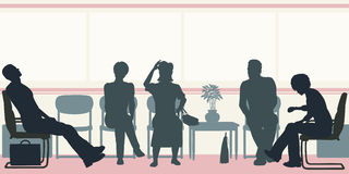 Waiting room stock illustration