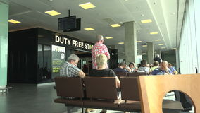 The waiting room at the airport Pulkovo. St. Petersburg. 4K. stock footage