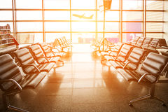The waiting room at the airport Stock Image