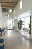 Waiting room area with lamps and chairs Stock Photos