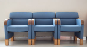 Waiting room blue chairs Royalty Free Stock Photos
