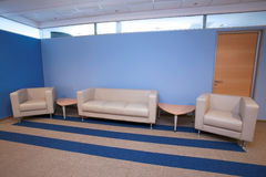 Waiting room in blue Royalty Free Stock Photo