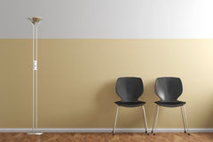Waiting room with chairs Royalty Free Stock Photography