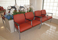 Waiting Room Chairs. Waiting room in public building Stock Image