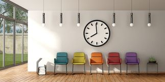 Colorful chair in a waiting room Royalty Free Stock Photo