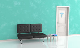 Waiting room of doctor's office Royalty Free Stock Photo