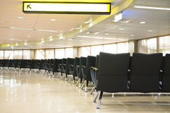 Waiting room with empty chairs. Royalty Free Stock Photo