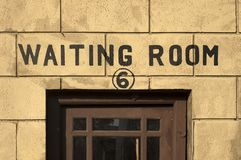 Waiting Room engrossed. On the gateway of a hall Royalty Free Stock Photography