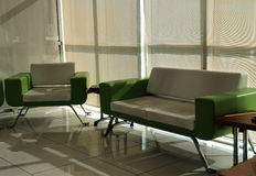 Waiting room furniture. A waiting room with modern furniture Royalty Free Stock Photos