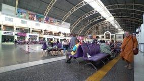 Hualamphong Railway station in Bangkok. stock video